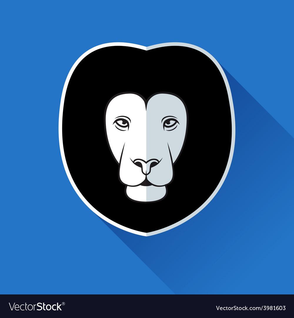 Flat lion logotype vector | Price: 1 Credit (USD $1)