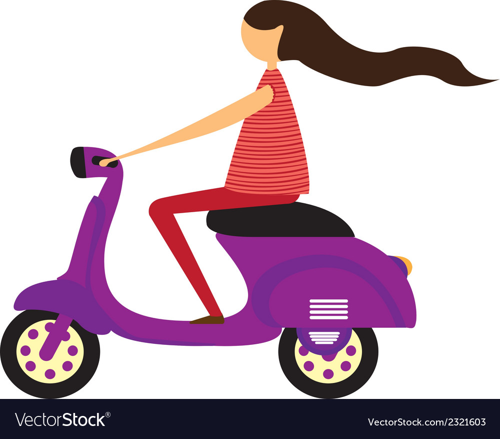 Girl over motorbike vector | Price: 1 Credit (USD $1)