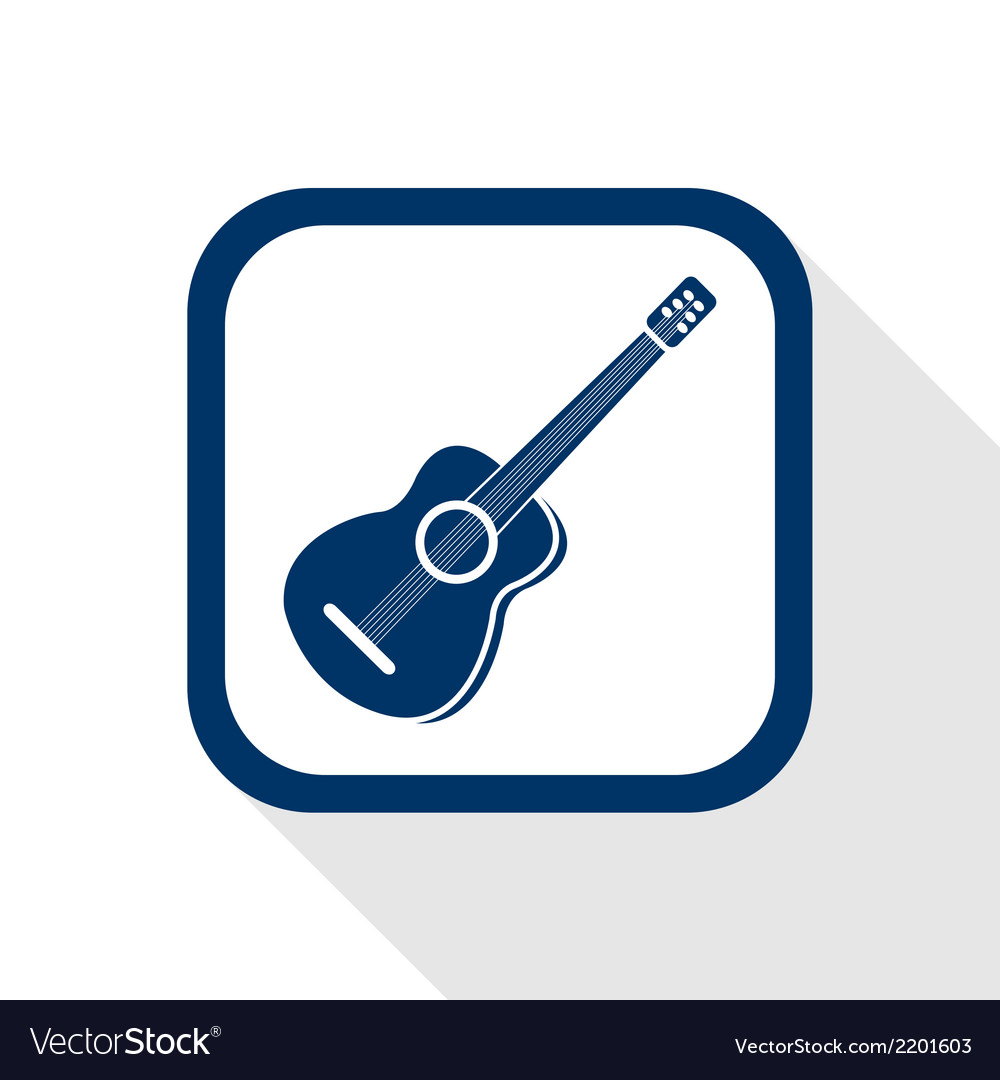 Guitar flat icon vector | Price: 1 Credit (USD $1)