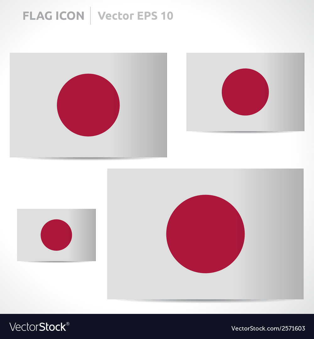 Japan flag template vector | Price: 1 Credit (USD $1)