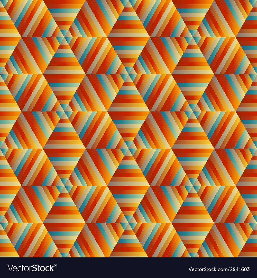 Ornamental hexagonal orange pattern vector | Price: 1 Credit (USD $1)