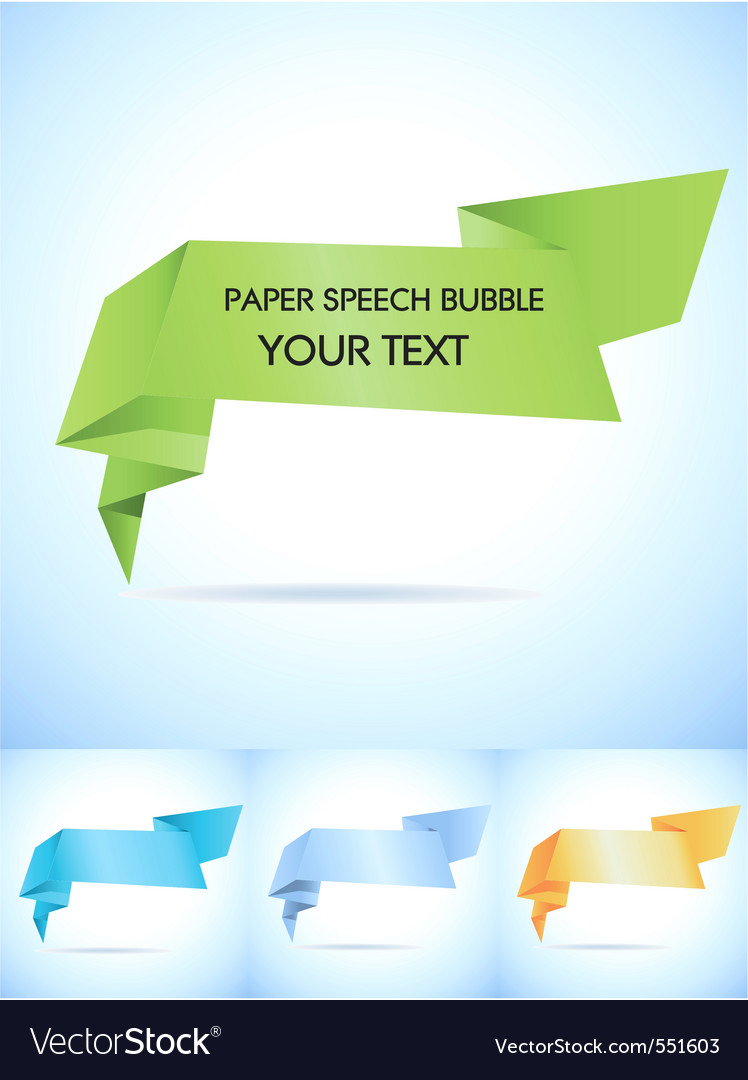 Paper speech bubble vector | Price: 1 Credit (USD $1)