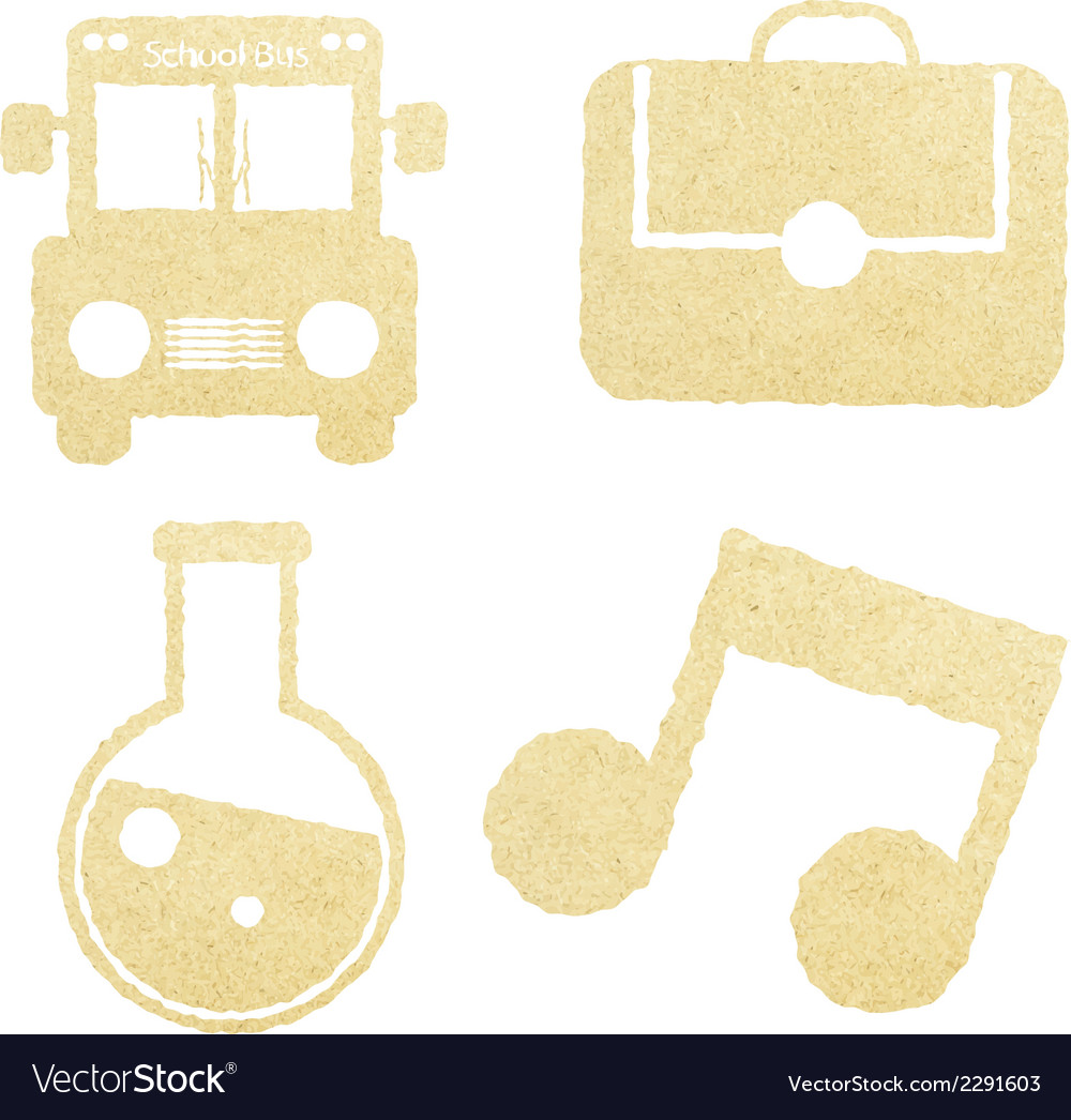 School paper and education icons vector | Price: 1 Credit (USD $1)