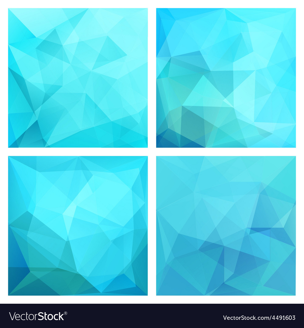 Set of four poly backgrounds for your design vector | Price: 1 Credit (USD $1)