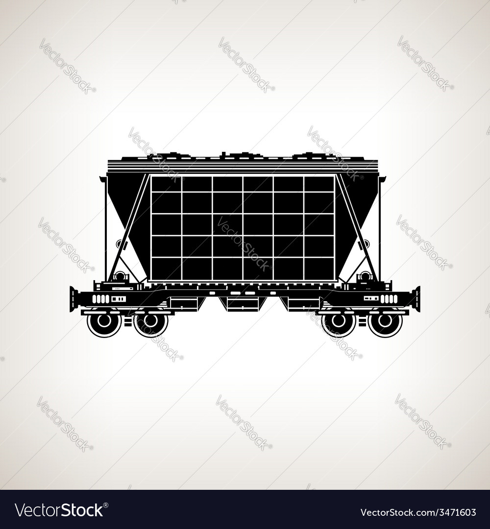 Silhouette hopper car on a light background vector | Price: 1 Credit (USD $1)
