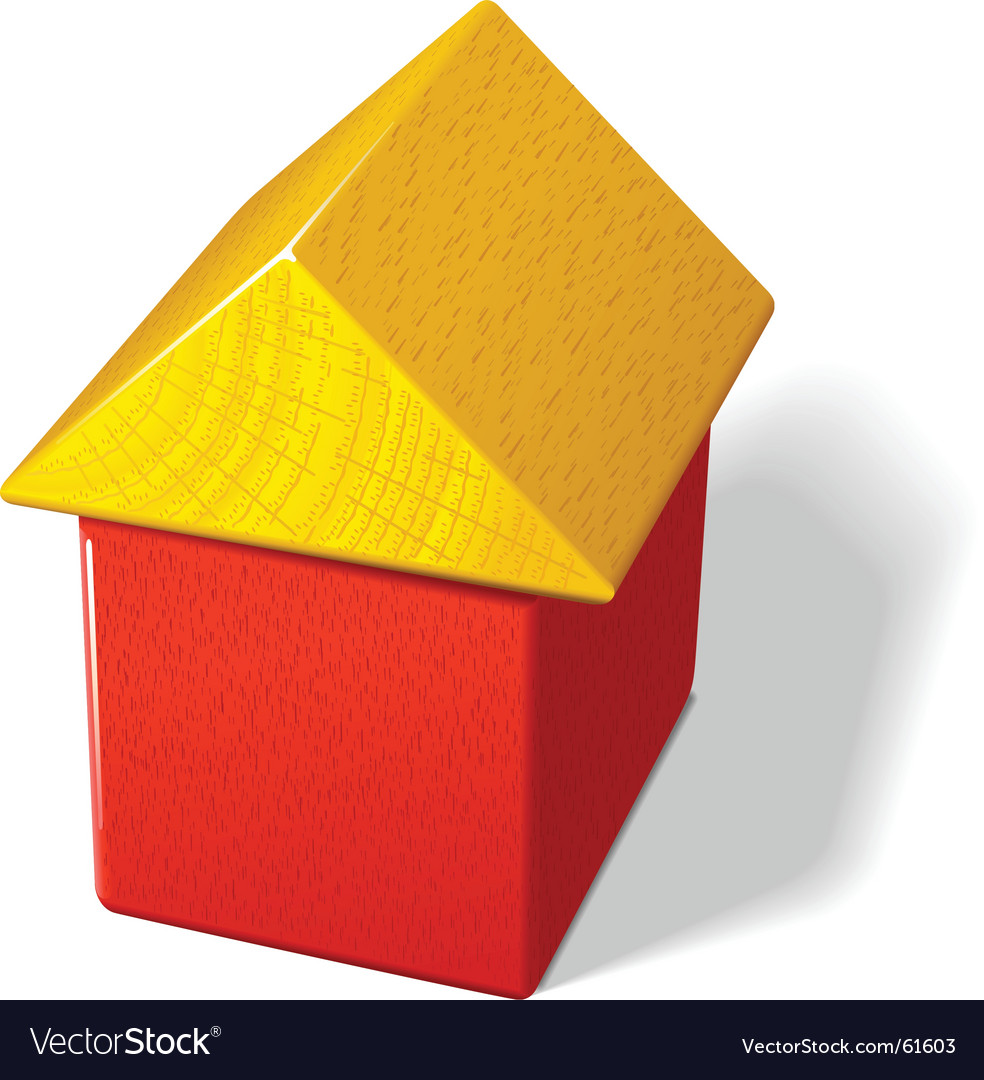 Toy block house vector | Price: 1 Credit (USD $1)