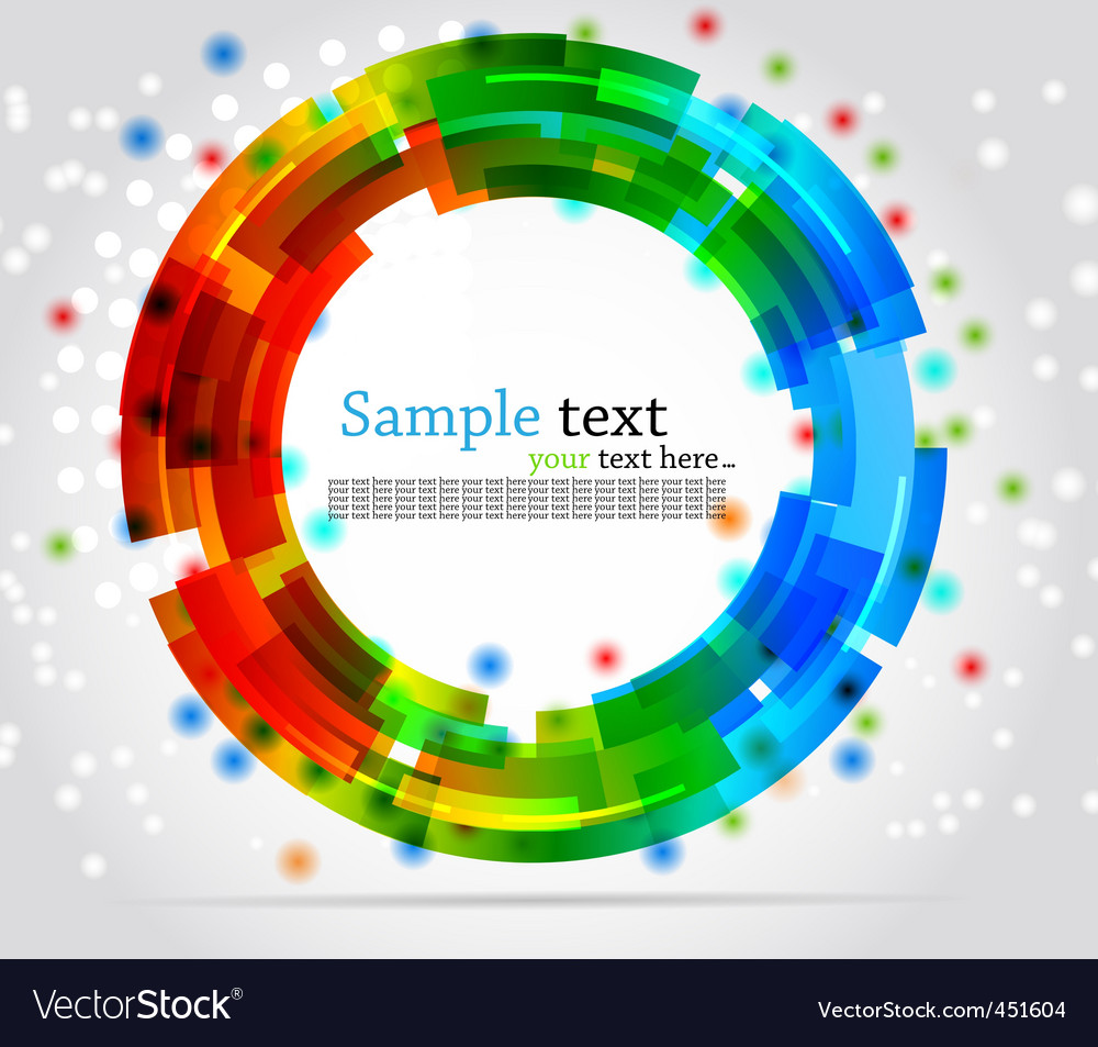 Abstract circle background colorful illustration vector | Price: 1 Credit (USD $1)