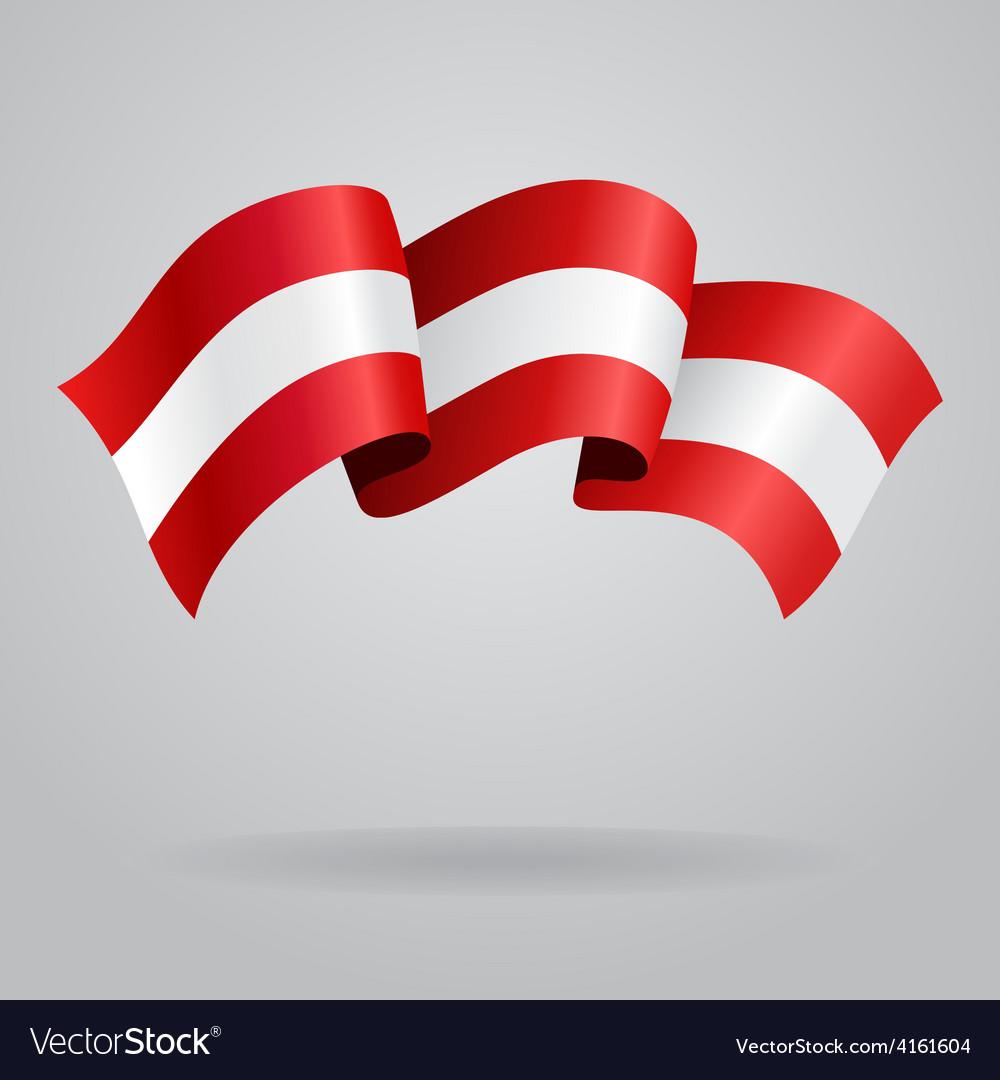 Austrian waving flag vector | Price: 3 Credit (USD $3)