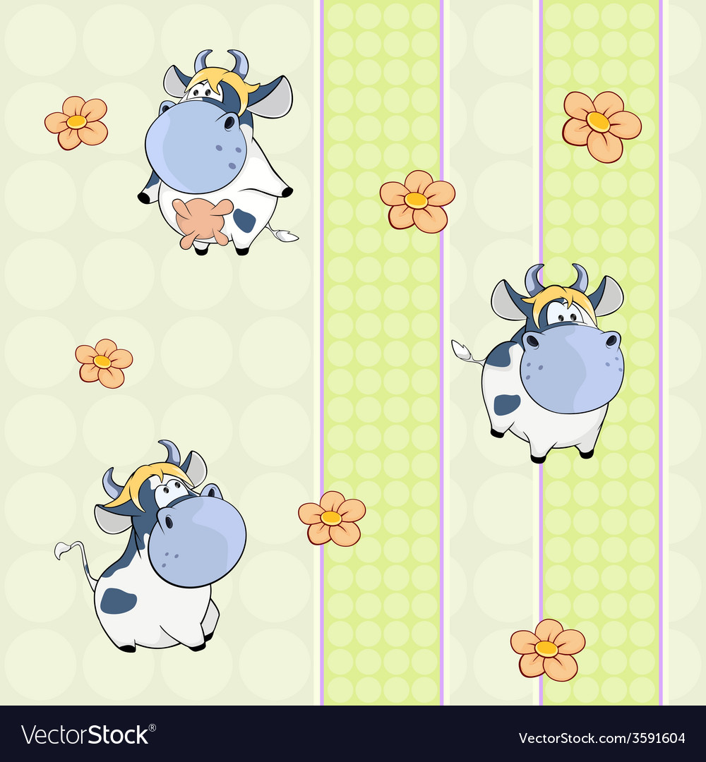 Background with cows vector | Price: 1 Credit (USD $1)