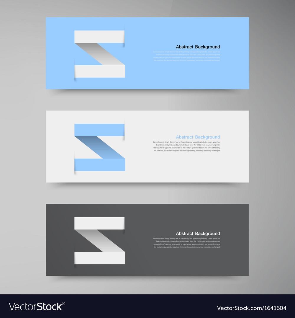 Banner design template label arrow vector | Price: 1 Credit (USD $1)
