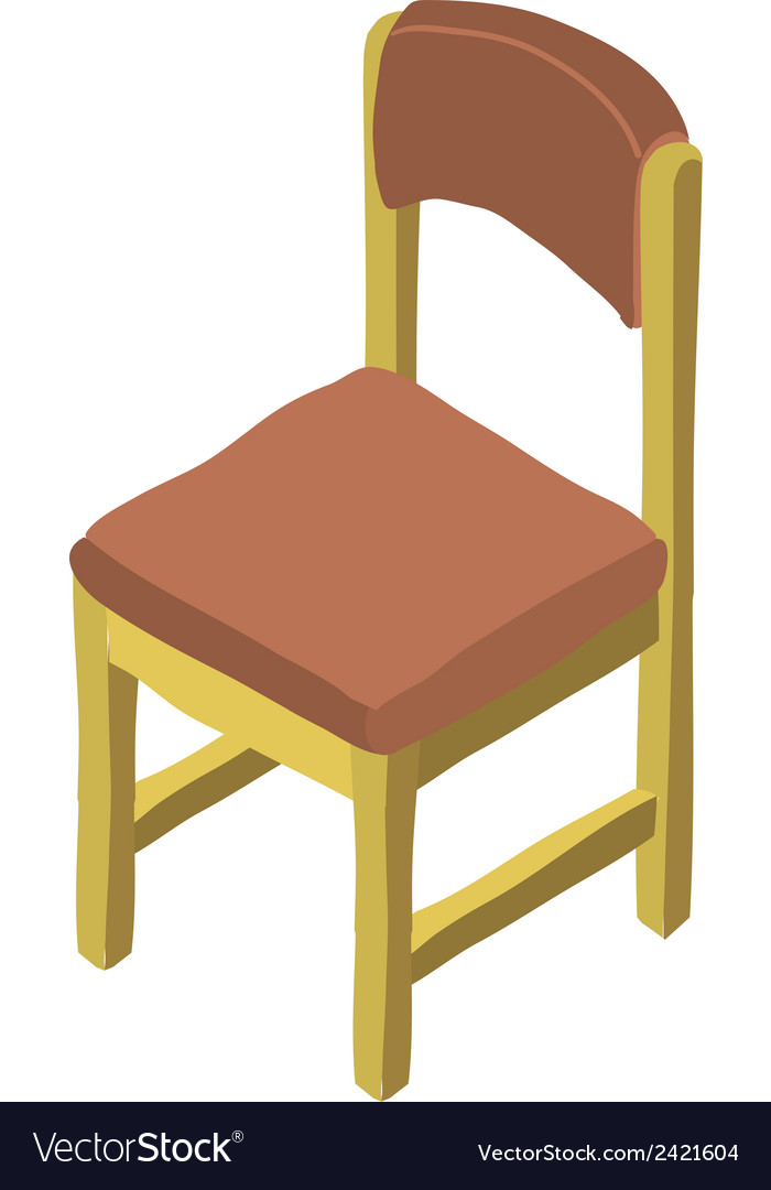Cartoon isometric wood chair icon vector | Price: 1 Credit (USD $1)