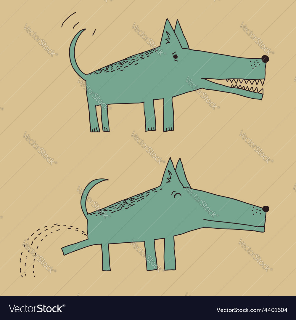 Dog peeing vector