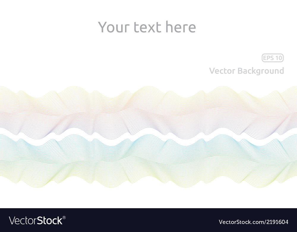 Line waves vector | Price: 1 Credit (USD $1)