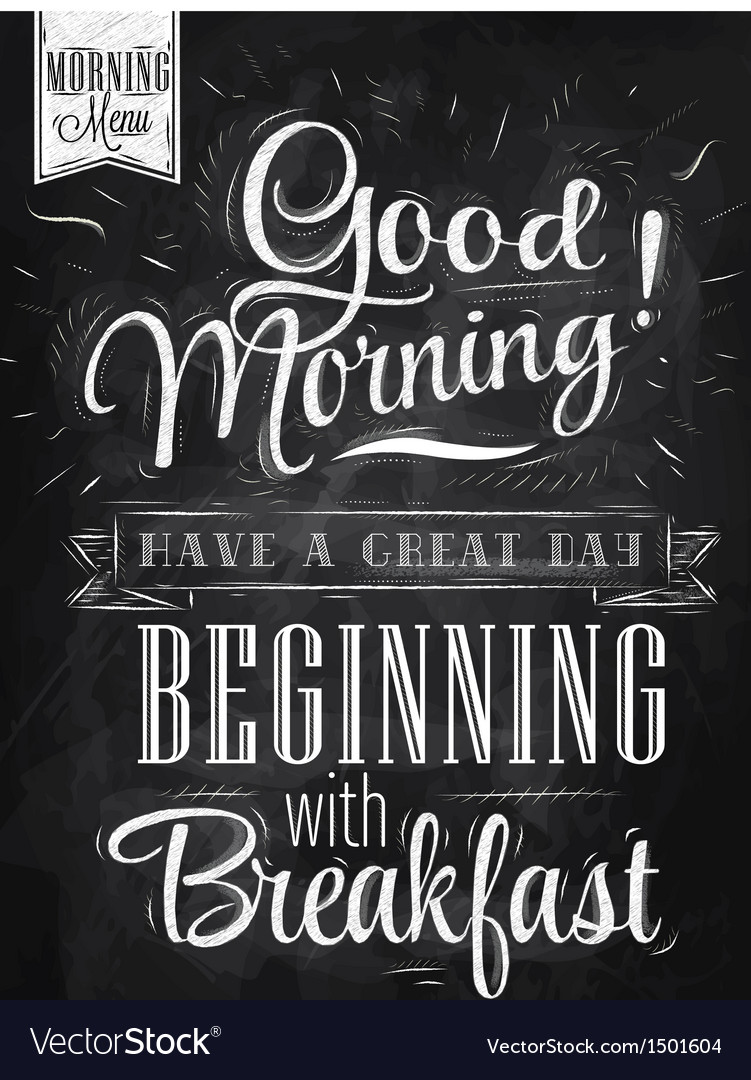 Poster good morning chalk vector | Price: 1 Credit (USD $1)
