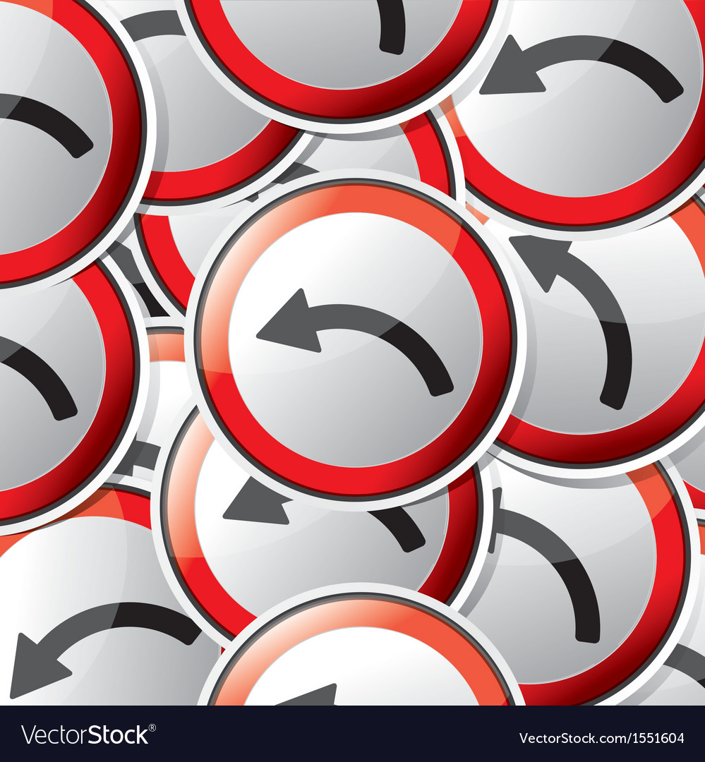 Sticker traffic symbols vector | Price: 1 Credit (USD $1)