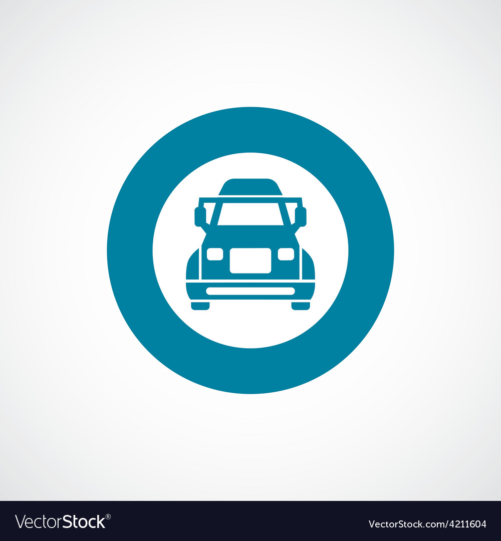 Truck icon bold blue circle border vector | Price: 1 Credit (USD $1)