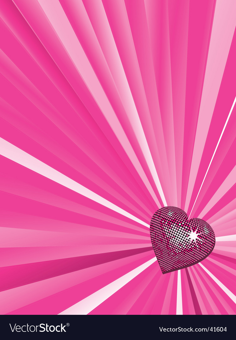 Valentine's heart background vector | Price: 1 Credit (USD $1)