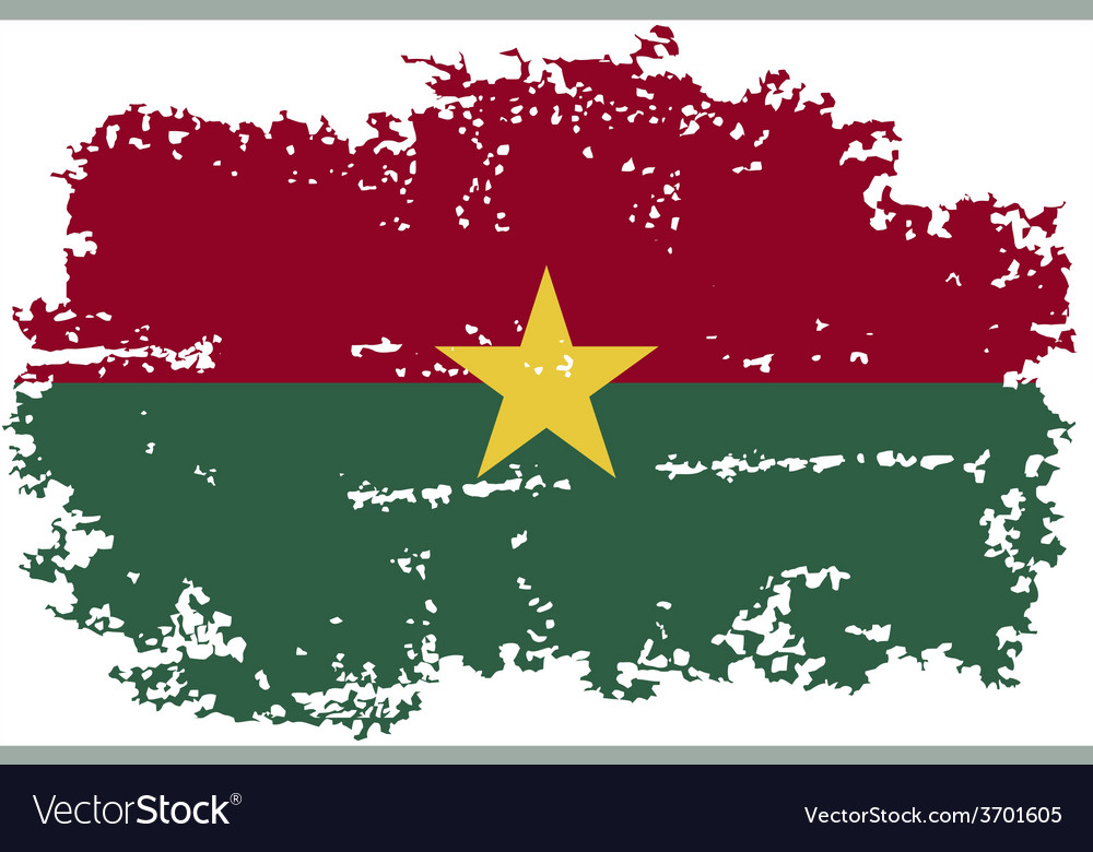 Burkina faso grunge flag vector | Price: 1 Credit (USD $1)