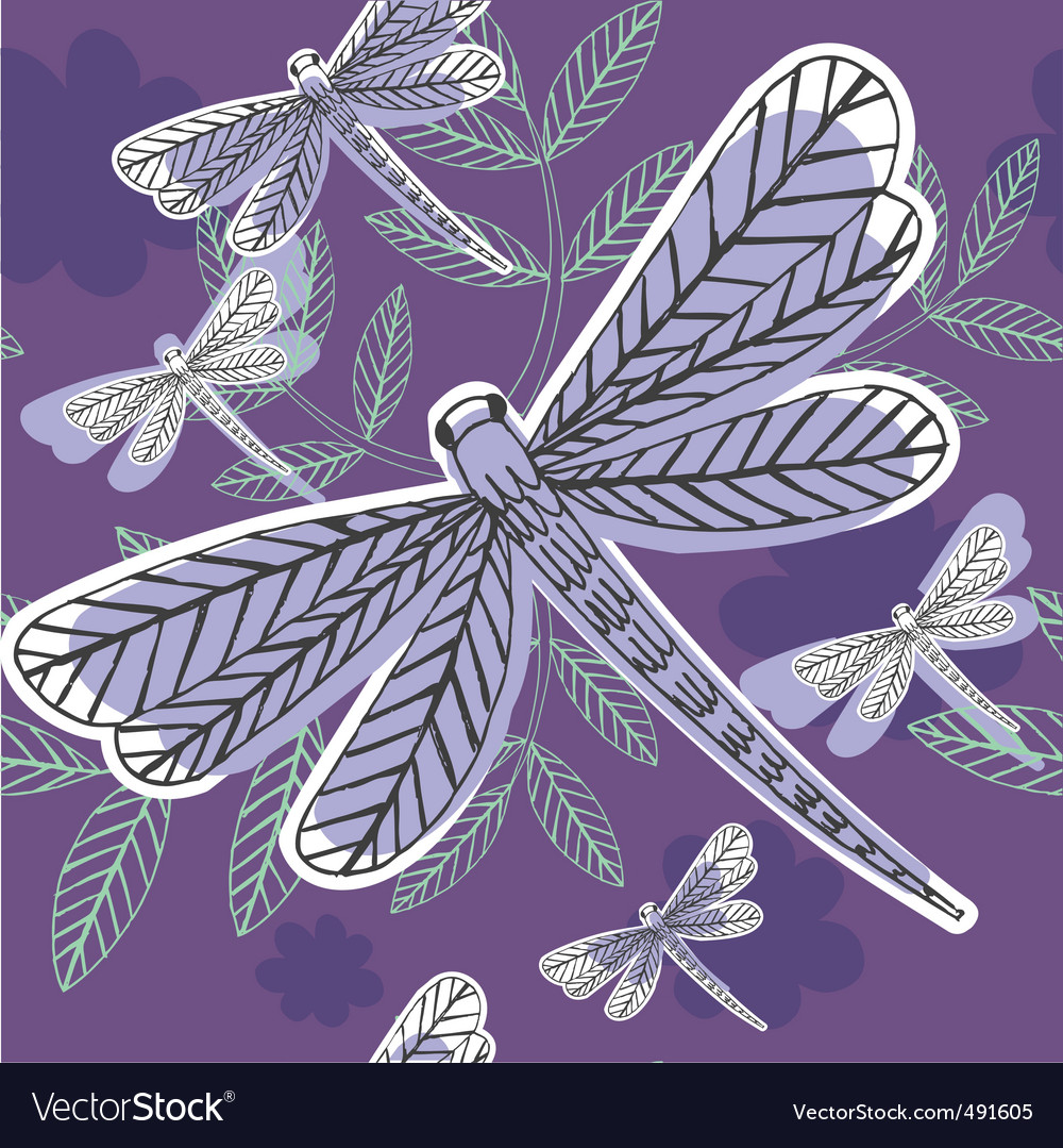 Dragonfly pattern vector | Price: 1 Credit (USD $1)