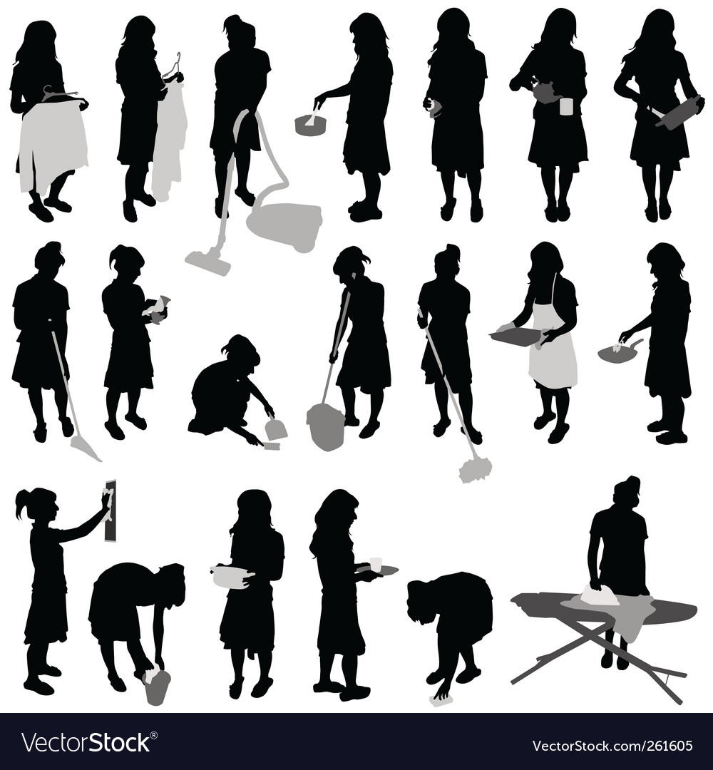 Housework vector | Price: 1 Credit (USD $1)