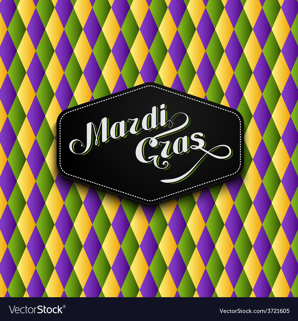 Mardi gras or shrove tuesday label vector | Price: 1 Credit (USD $1)