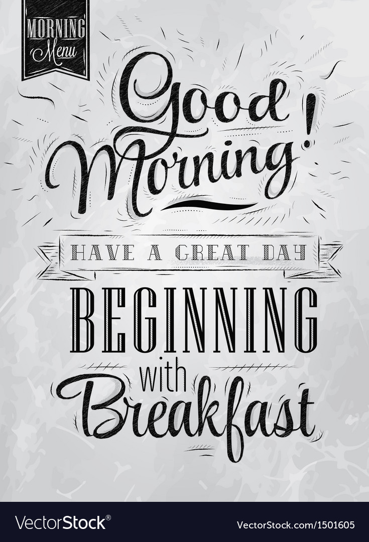 Poster good morning coal vector | Price: 1 Credit (USD $1)