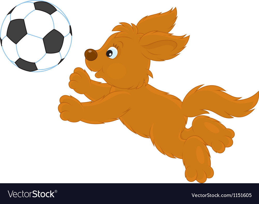 Pup playing vector | Price: 1 Credit (USD $1)
