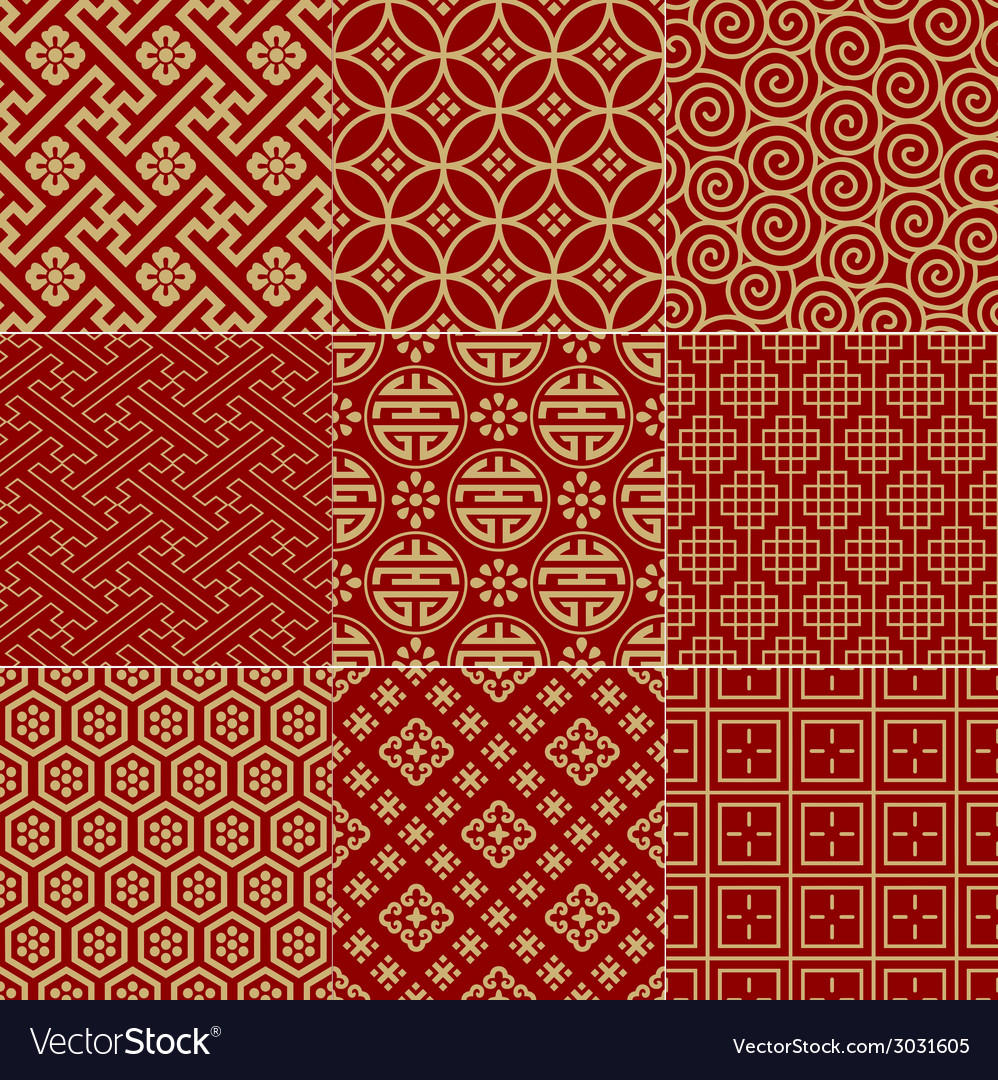 Seamless chinese traditional mesh pattern vector | Price: 1 Credit (USD $1)