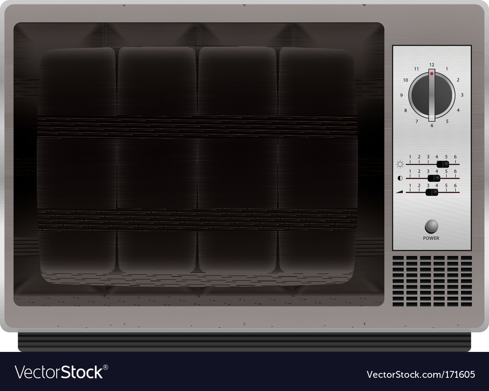 Vintage tv vector | Price: 1 Credit (USD $1)