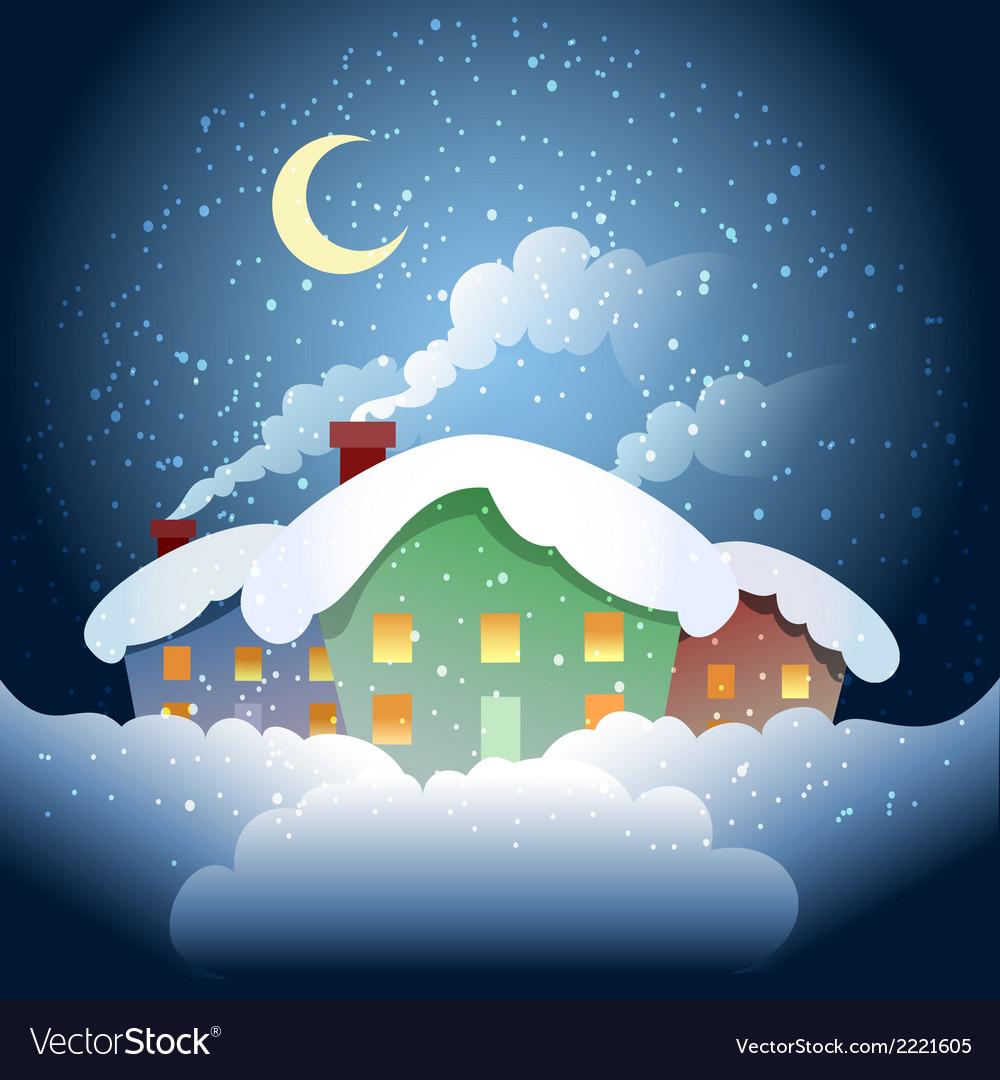 Winter village vector | Price: 1 Credit (USD $1)
