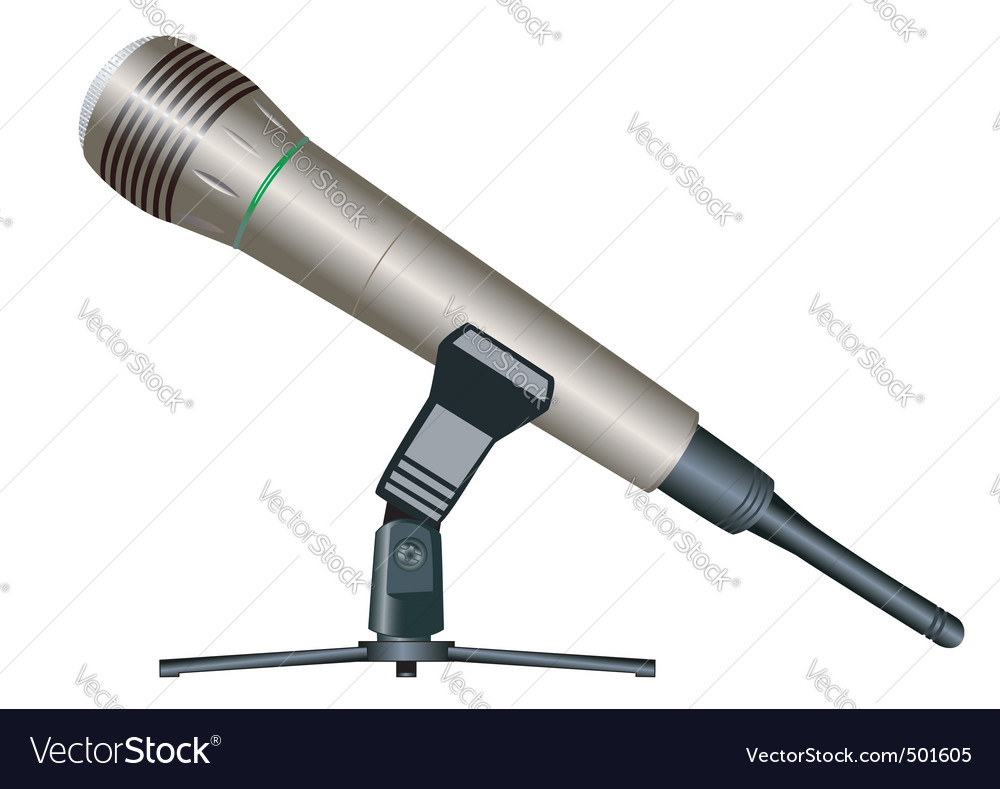 Wireless microphone vector | Price: 3 Credit (USD $3)