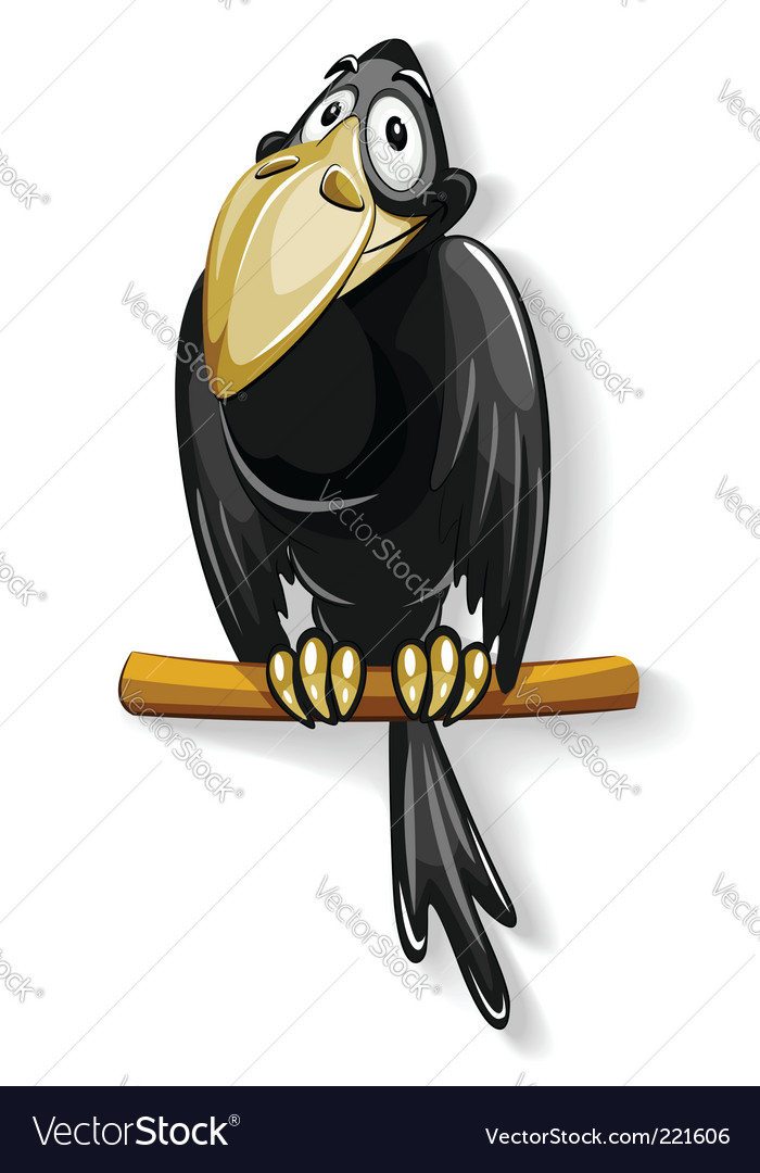 Black crow vector | Price: 3 Credit (USD $3)