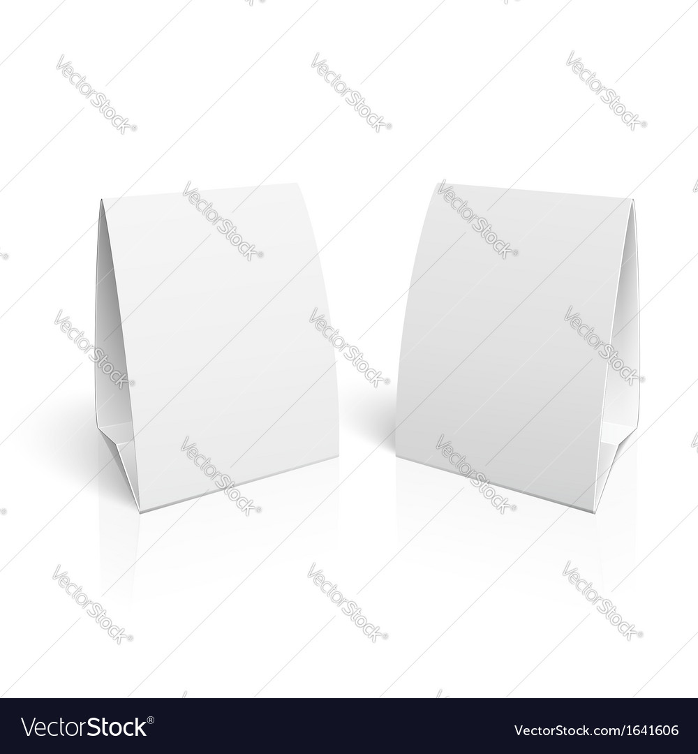 Blank paper table cards vector   Price: 1 Credit (USD $1)