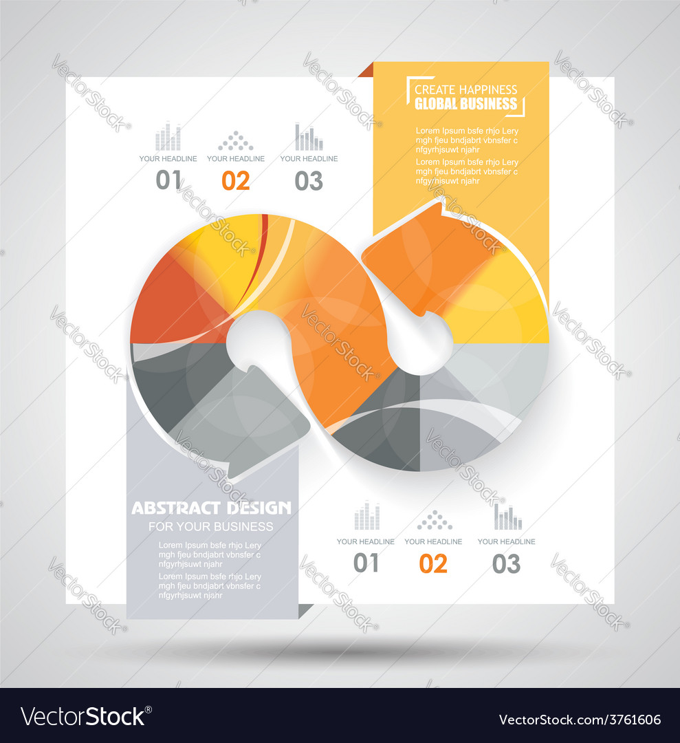 Brochure template design with arrows elements vector | Price: 1 Credit (USD $1)