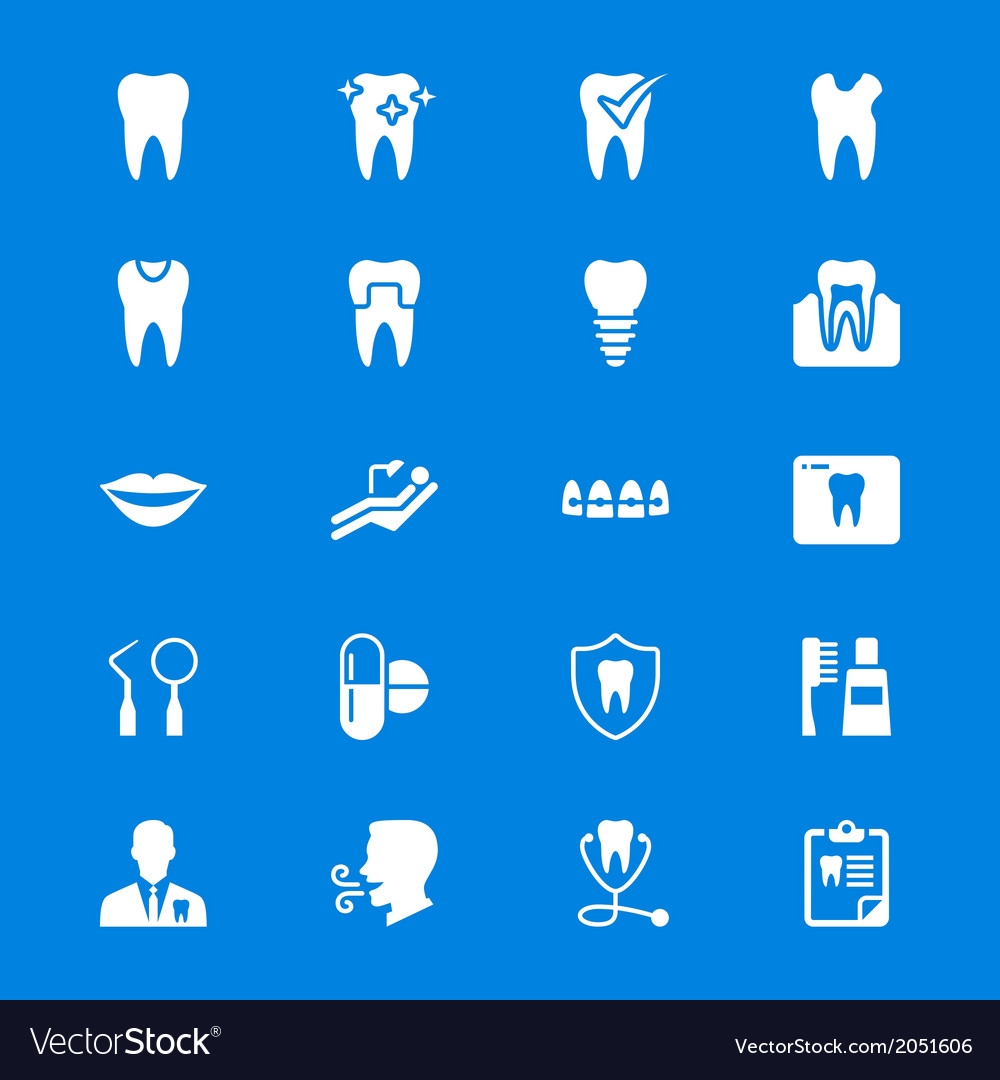 Dental flat icons vector | Price: 1 Credit (USD $1)
