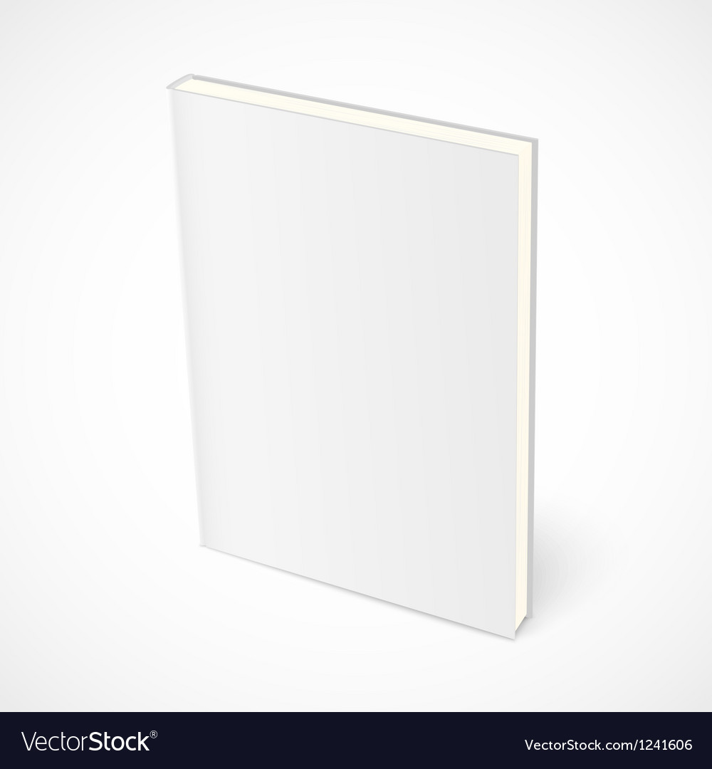 Empty standing book with white cover vector | Price: 1 Credit (USD $1)