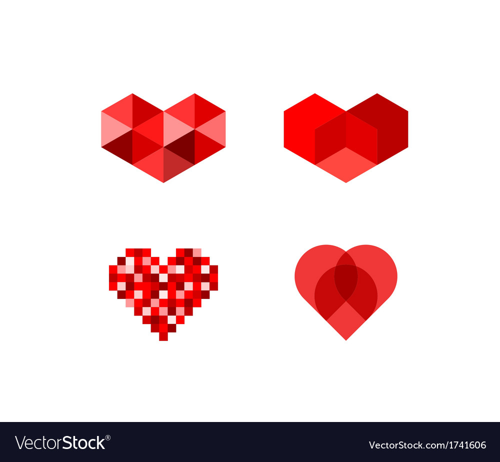 Heart symbols vector | Price: 1 Credit (USD $1)