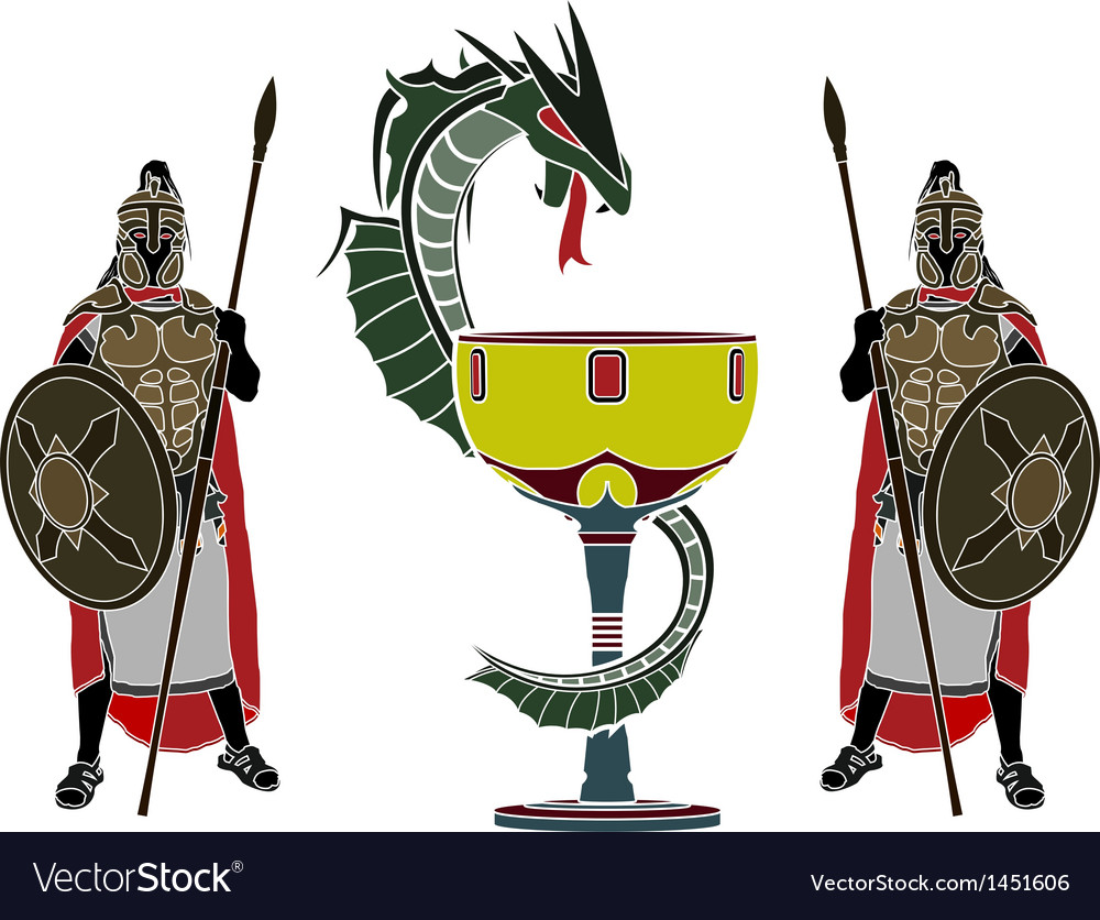 Holy grail and guardians vector | Price: 1 Credit (USD $1)