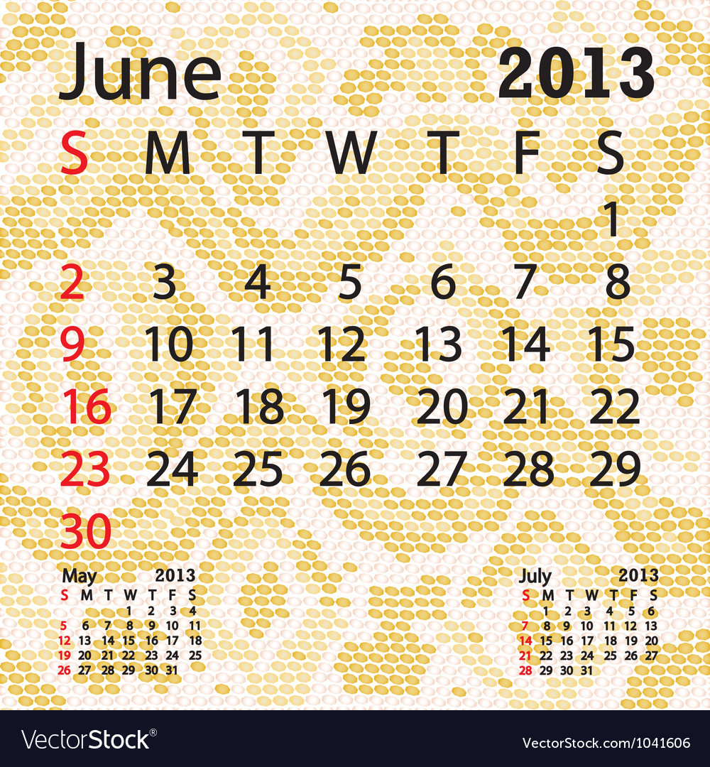 June 2013 calendar albino snake skin vector | Price: 1 Credit (USD $1)