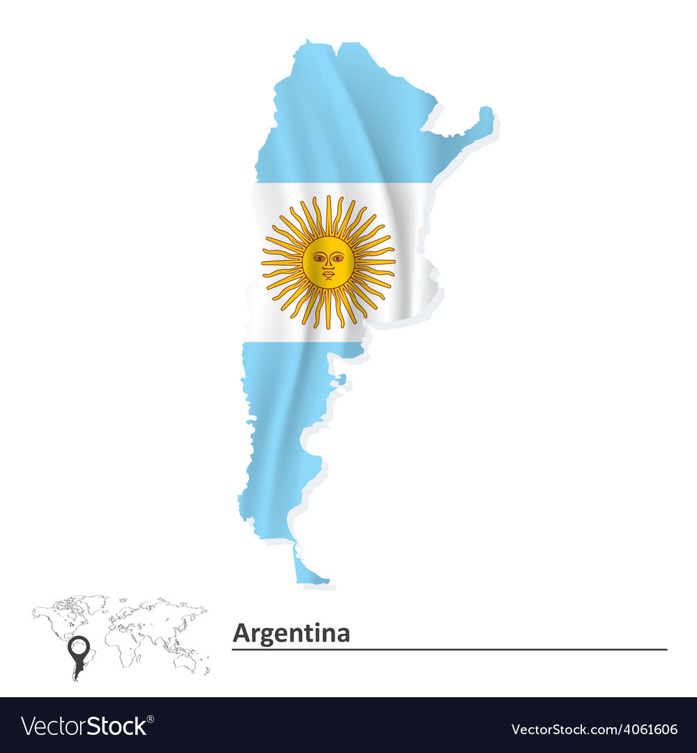 Map of argentina with flag vector | Price: 1 Credit (USD $1)
