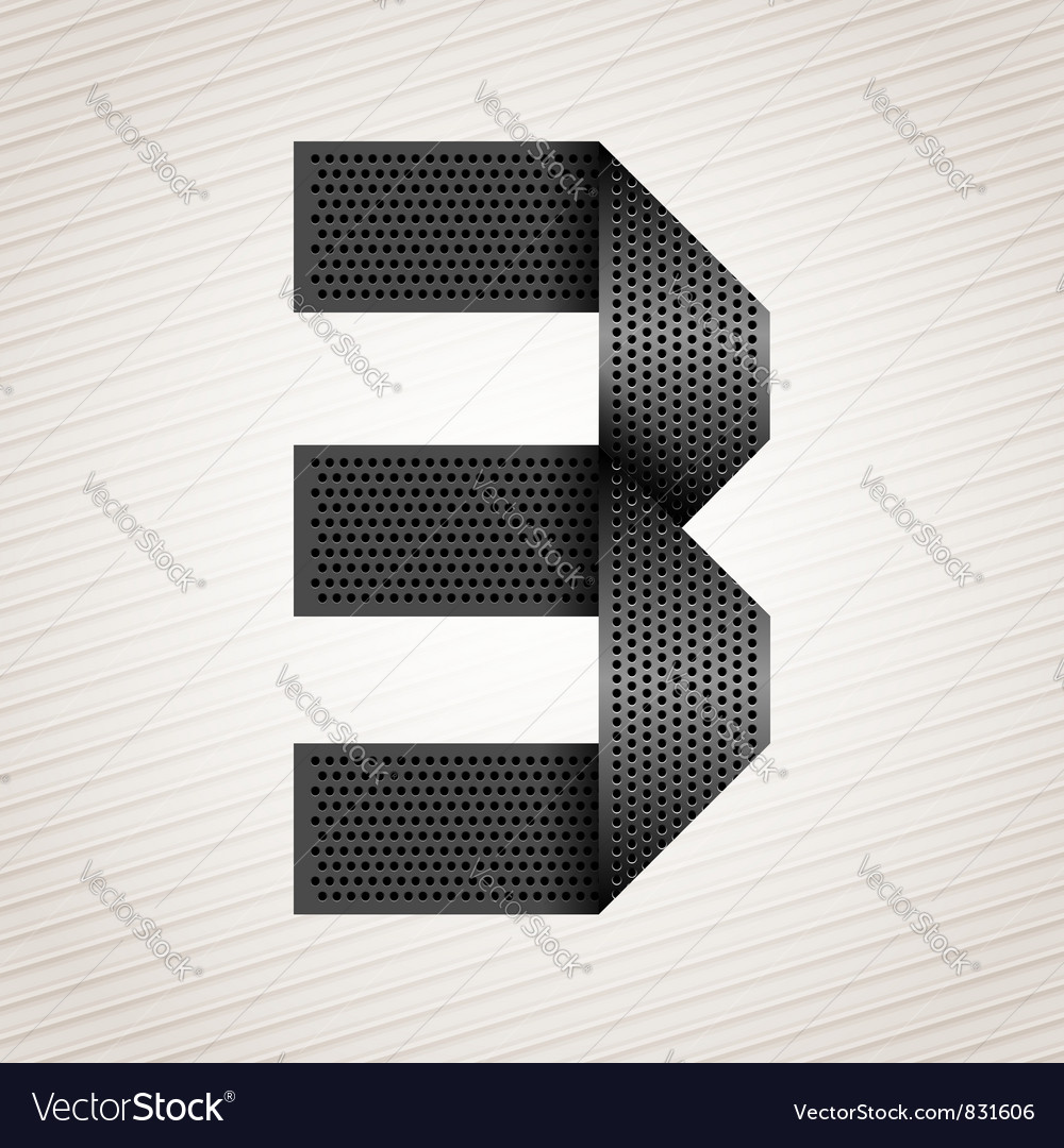 Number metal ribbon - 3 - three vector | Price: 1 Credit (USD $1)