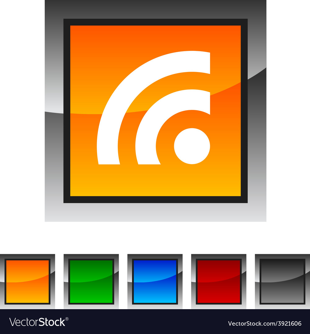 Rss icons vector | Price: 1 Credit (USD $1)