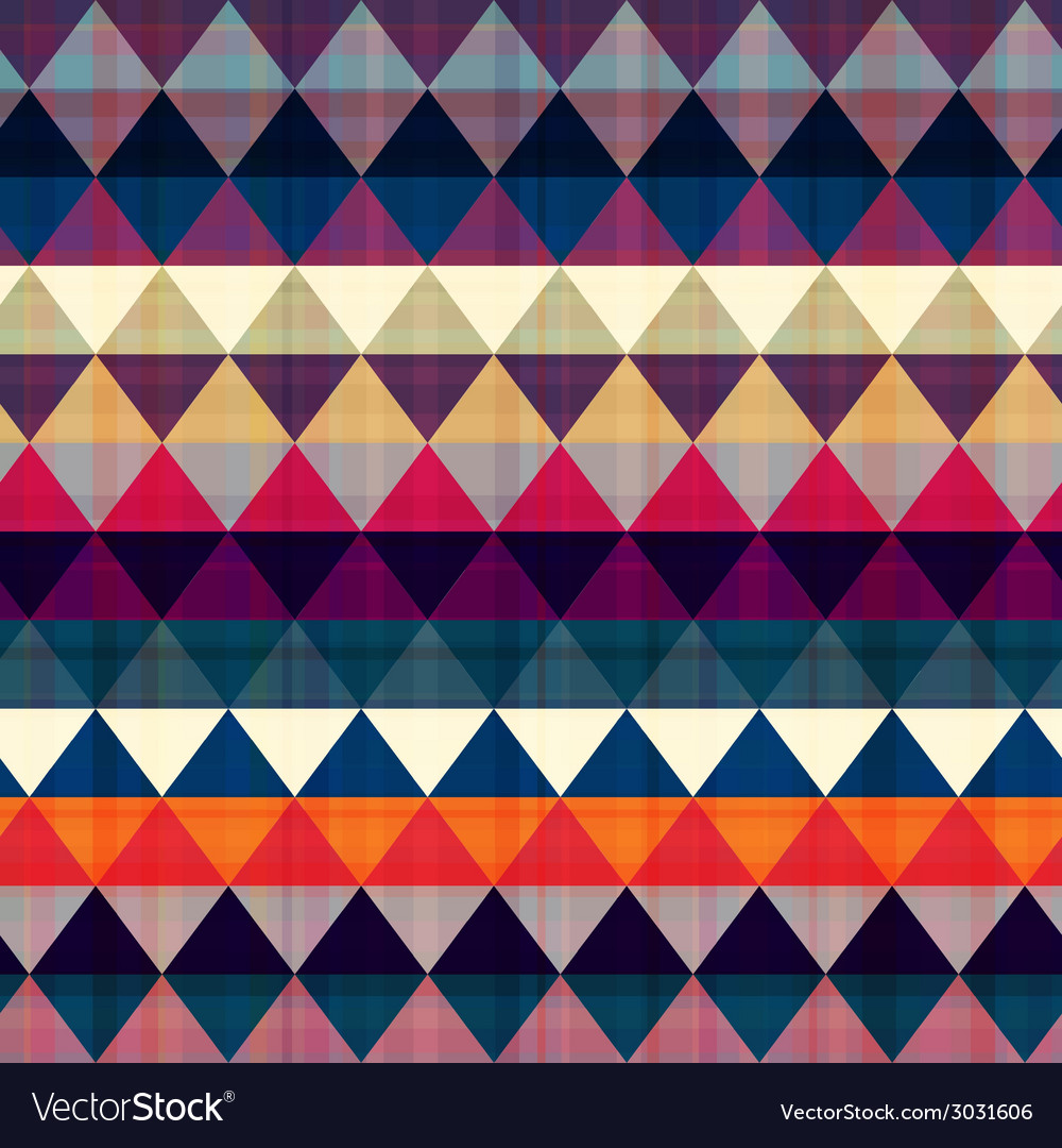 Seamless colorful geometric pattern vector | Price: 1 Credit (USD $1)
