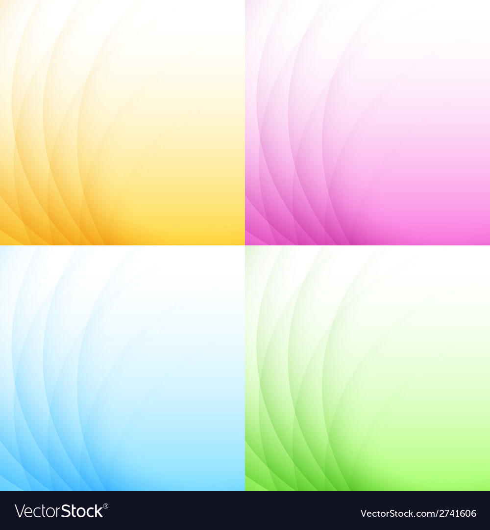 Set of abstract colorful light backgrounds vector | Price: 1 Credit (USD $1)