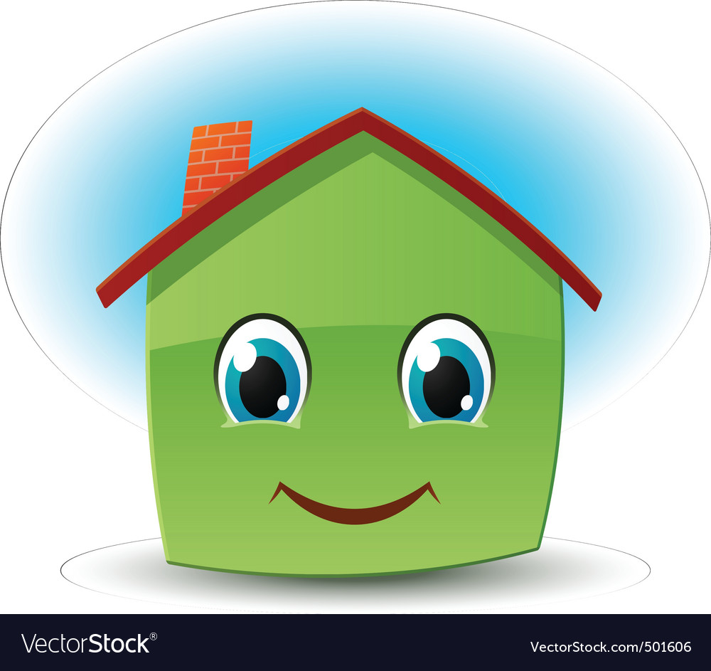 Smiling house vector | Price: 1 Credit (USD $1)