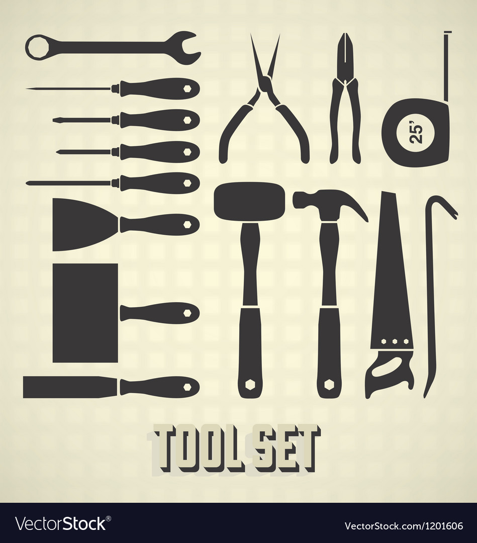 Tools silhouette set vector | Price: 3 Credit (USD $3)