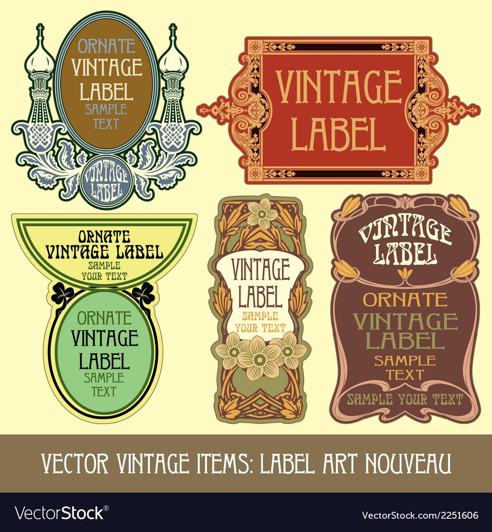 Vintage items vector | Price: 1 Credit (USD $1)