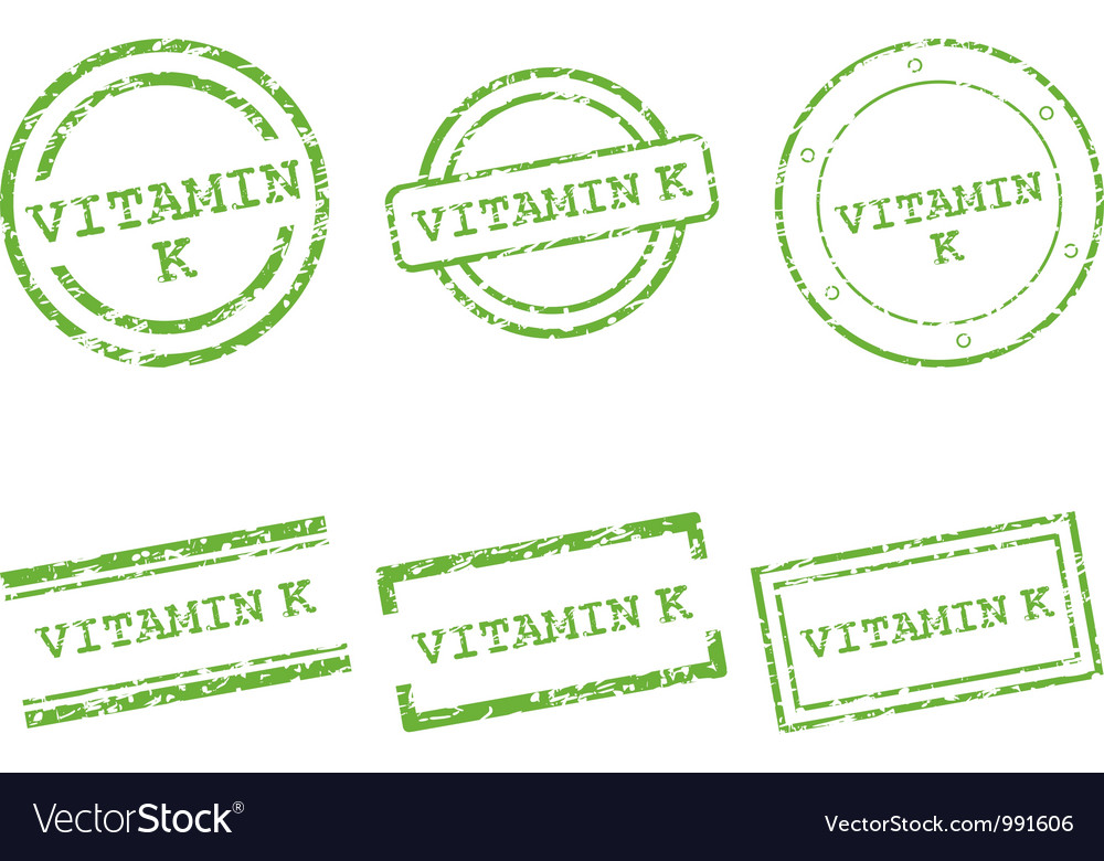 Vitamin k stamps vector | Price: 1 Credit (USD $1)