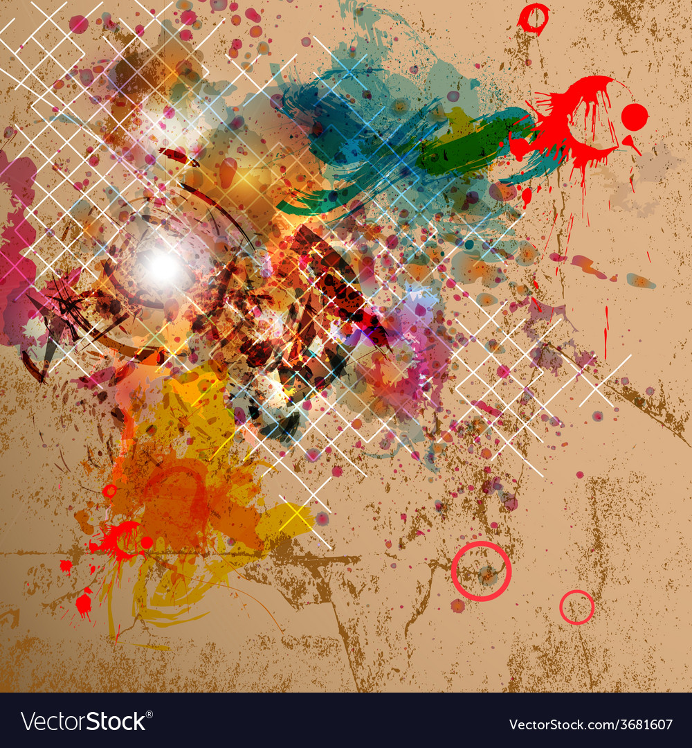 Abstract background with grunge design vector | Price: 1 Credit (USD $1)