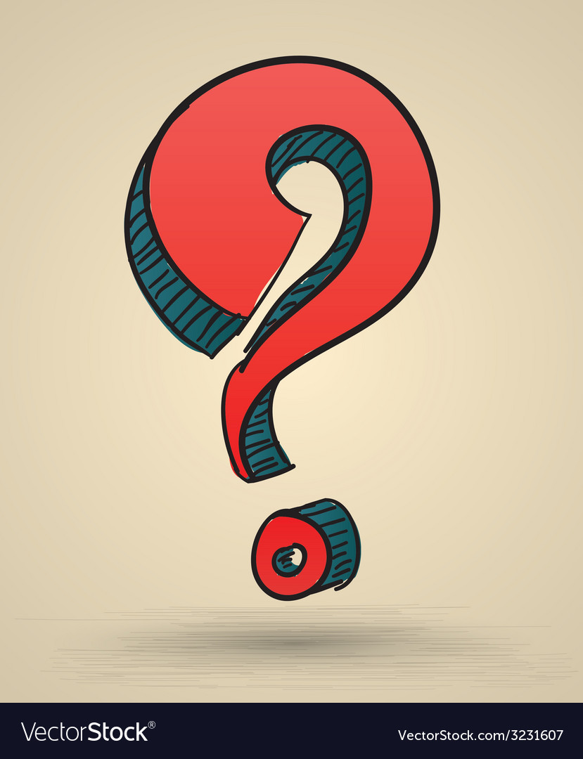 Abstract question mark sketch vector | Price: 1 Credit (USD $1)